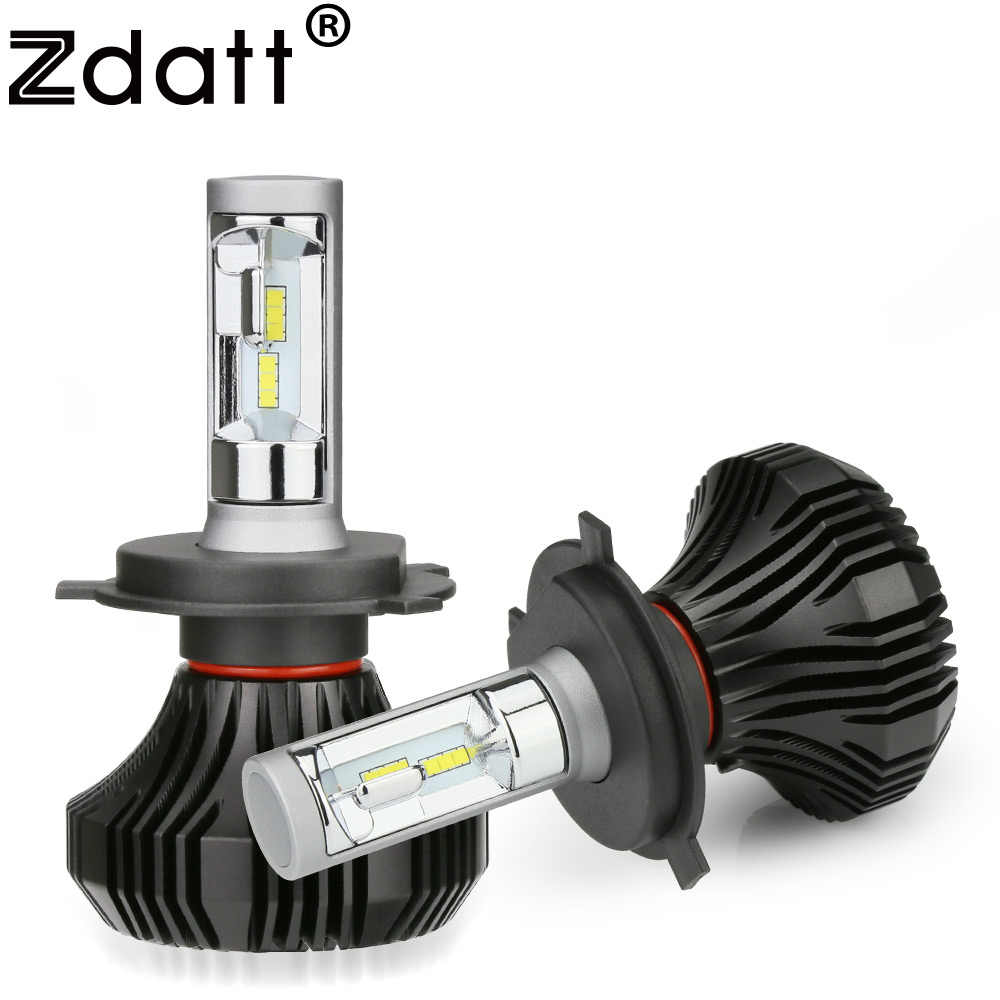 Zdatt 12V H4 H7 LED Headlight H11 Bulb 80W 8000Lm H8 H9 H1 9005 HB3 9006 H3 CSP Car Led Light Bulb Bright Lamp Auto 6000K