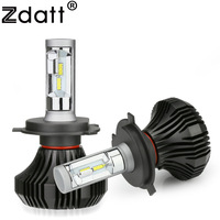 Zdatt 12V H4 H7 LED Headlight H11 Bulb 80W 8000Lm H8 H9 H1 9005 HB3 9006