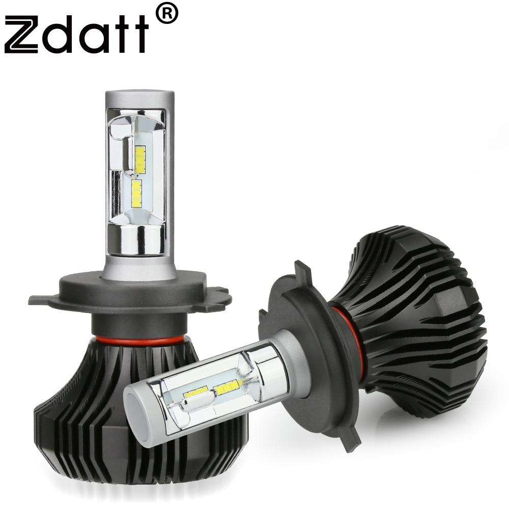 Zdatt 12V H4 H7 LED Headlight H11 Bulb 80W 8000Lm H8 H9 H1 9005 HB3 9006