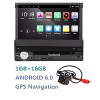 Android Single 1DIN Car Radio Stereo Quad Core 6 0 Touch Screen Car GPS Navigation Radio