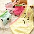 2016 New Brand Underwear Women Panties Cartoon Smile Face Intimates Cotton Cute Briefs Sexy Girls Comfort Calcinha 3NK098
