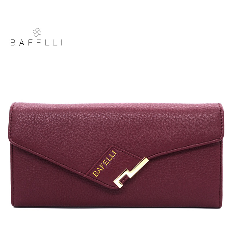 BAFELLI women money clips genuine leather long pures fashion black wallet high quality wallet cow leather hot sale women wallet цена