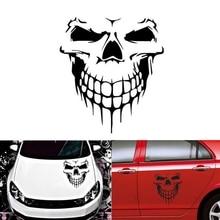 40*36cm Car Sticker Universal Waterproof Reflective Body Hood Medium Side Door Skull Head Exterior Accessories