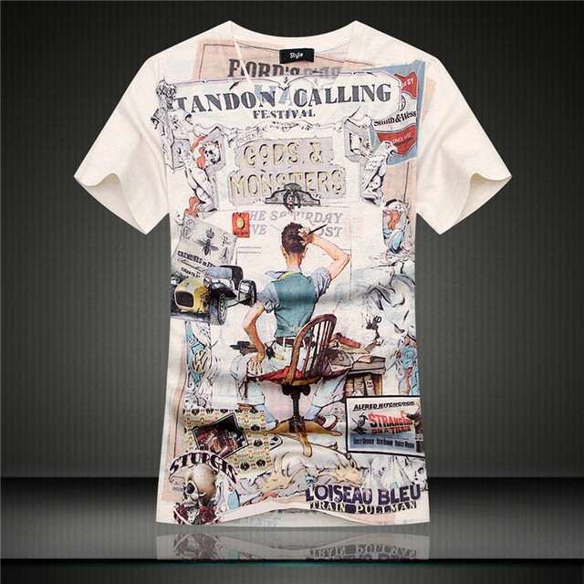 c7e9322849 mens t shirts fashion 2015 summer designers short sleeve men 3d t shirt  graphic tees vintage slim fit hip hop streetwear cool