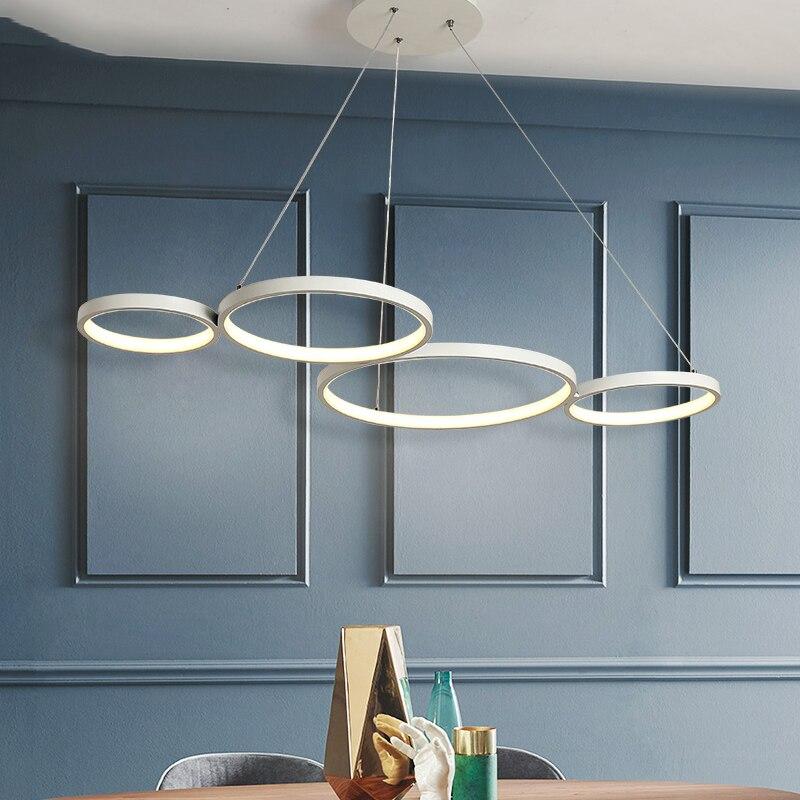 Черная/белая Современная подвесная светодиодная Люстра для столовой, кухни, бара, гостиной, подвесной светильник, lustre de plafond
