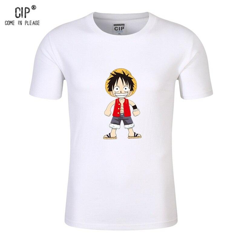 CIP 100/% Baumwolle Japanischen Anime T Shirts One Piece Luffy T-shirt Cartoon Designs Kinderkleidung T-shirts Kurzarm Baby t-shirt