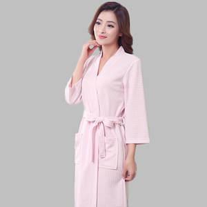 YAGENZ Female Summer Cotton Bathrobe Couple Nightgown f72091e84