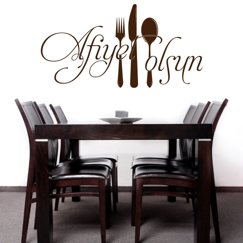 Turkish Wall Stickers ,Turkish Muslim Kitchen Restaurant Decoration Wall Stickers Is2008