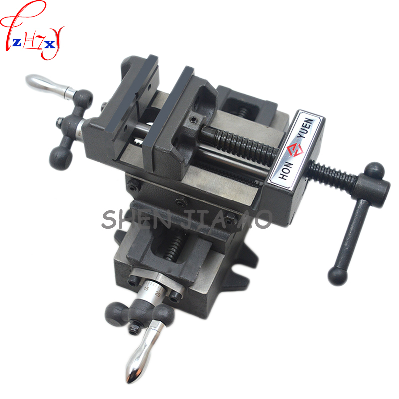 1pc 3 - inch cross - flattened pliers precision heavy - duty Manual tiger caliper bench drill with a cross - clamp