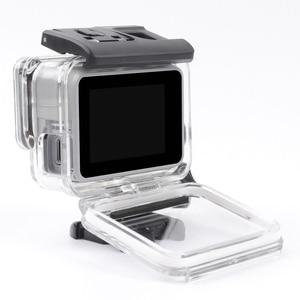 Image 3 - שלד מגן שיכון מקרה צד פתיחת ואחורי עם חור עם עדשת זכוכית עבור GoPro גיבור 7 לבן כסף אבזרים