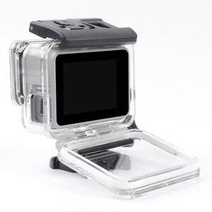 Image 3 - Boîtier de protection squelette boîtier ouverture latérale & porte arrière avec trou avec verre dobjectif pour GoPro Hero 7 accessoires argent blanc