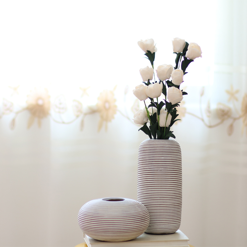 white modern creative resin little flower vase vintage statue home decor crafts room decoration bookshelf figurine