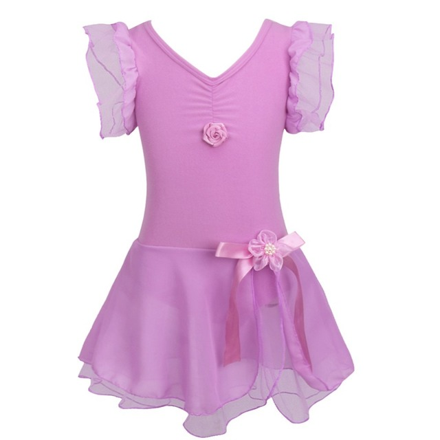 864b39106 Child Girls Ballet Tutu Gymnastic Leotard Dance Dress Sleeveless ...