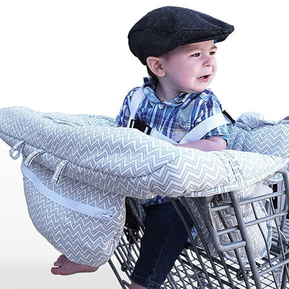 YOOAP Adjustable baby supermarket shopping cart protects seats for all small babies and baskets with pillowcases, shipping bags