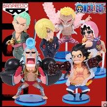 New One Piece 6pcs/set Gear Fourth Luffy Action Figures Sanji Zoro Franky Doflamingo Dolls PVC ACGN figure Toys Brinquedos Anime