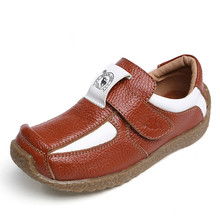 New Spring Autumn Children s Genuine Leather Shoes Fashion Boys Casual Shoes Slip on Soft Rubber