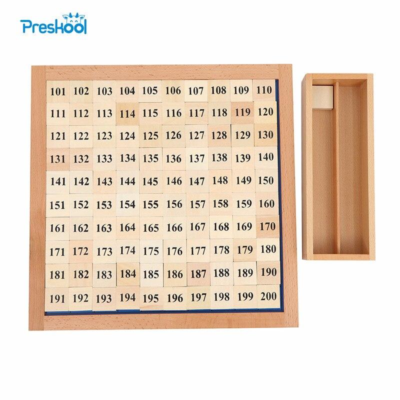 Montessori mathématiques continu numérique conseil éducation bébé Preskool jouet cent mille conseil Brinquedos Juguets