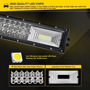Image 2 - LED Bar for UAZ 4x4 offroad 22 32 42 inch LED Light Bar 324w 459w 594w Spotlight LED Beam 12V 24V fog headlights LED Work light