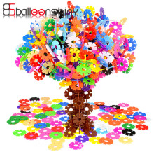 100 pcs lot Building Blocks Child DIY Assemblage font b Toy b font Educational Multicolor Snowflake