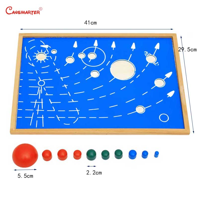 Astral Map With Box Montessori Toys Board Teaching Aids Wooden Kindergarten Games Toys Educational Kids 3-6 Years GE035-3