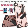 Защитный силиконовый чехол для Samsung Galaxy Tab A A6 7 0 T280 T285 SM-T280 SM-T285 чехол для рук и подставки