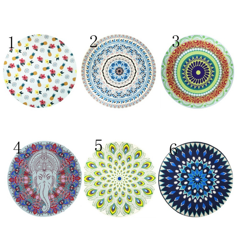 150*150cm Indian Persian Printed Mat Round Shawl Tapestry Retro Wall Hanging Towel Beach Mats For Home Bar