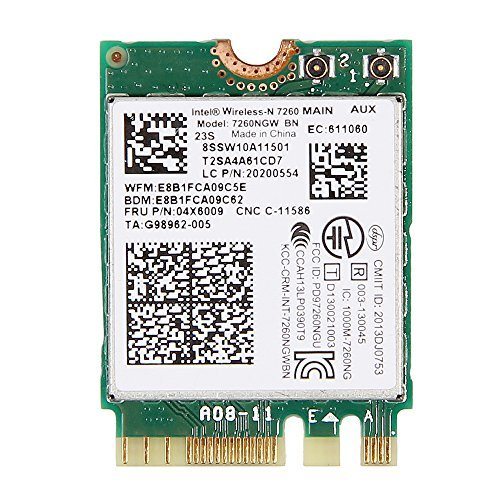Intel Wireless-N 7260 NGFF 802.11bgn 2.4GHz Wi-Fi + Bluetooth 4.0 7260NGW 7260BN 04X6009 T440 T440p W540 L440 X240 X240s