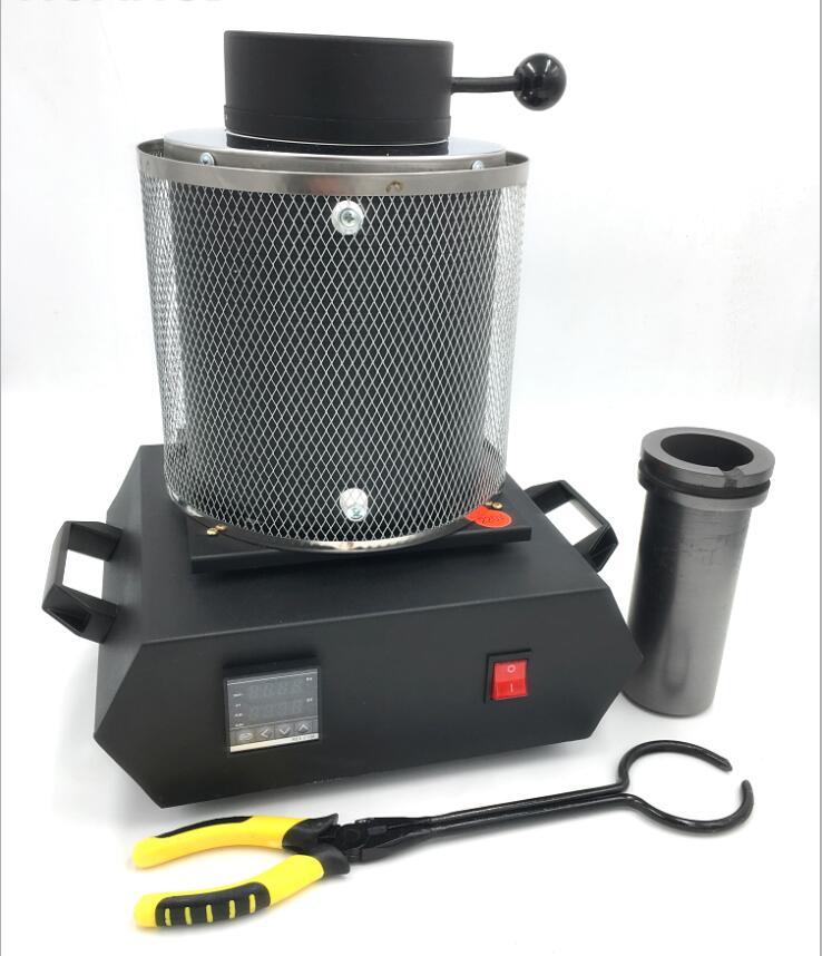 Fornalha de derretimento elétrica da joia de 220 v/110 v 1 kg/2 kg/3 kg, alumínio, cobre, ouro, chumbo, prata, forno de derretimento da indução ovan