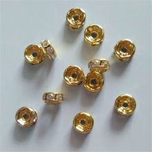 10pcs / lotDIY jewelry accessories bracelet necklace diamond drill row beads 8mm ultra-flash diamond beads round diaphragm