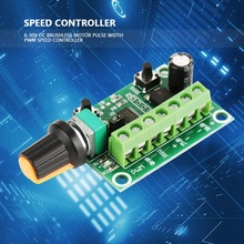 цена на 1 PC 6-30V Motor Speed Controller DC Brushless Motor Pulse Width Regulator PWM Speed Controller Regulator Switch