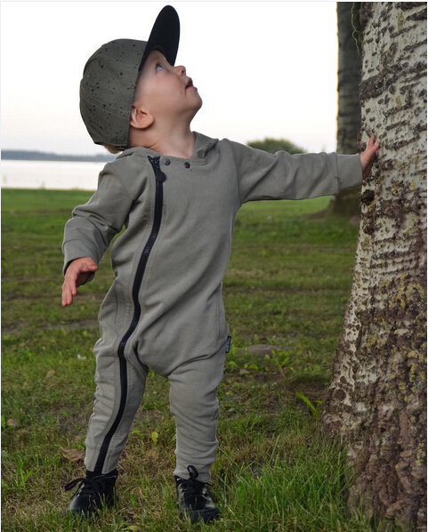 2017 Fashion Baby Rompers Long Sleeve Printing Baby Boy Clothing Children Jumpsuits Infant Clothing Newborn Baby Girl Clothes