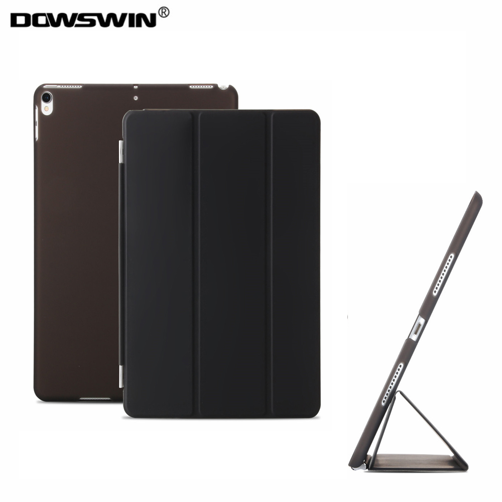 for ipad pro 10.5 case,dowswin detachable smart cover wake up sleep pu leather with matte transparent pc back cover for pro 10.5