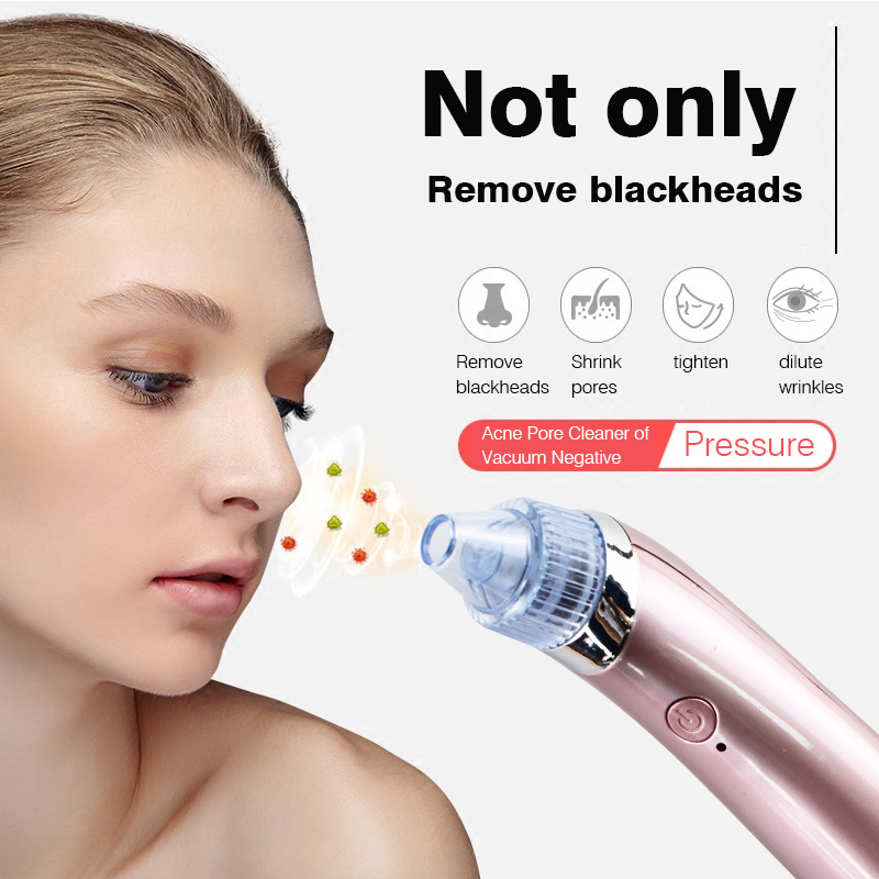 Facial Acne Vacuum Pore Cleaner Blackhead Removal Spot Cleansing Skin Home Spa Peeling Exfoliating Comedo Suction Beauty Device blackhead vacuum acne cleaner pore