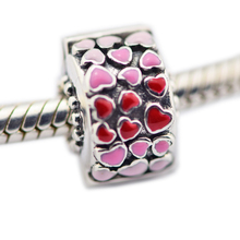 2018 New Beads Fits Pandora Bracelets 100% 925 Sterling Silver Jewelry Burst of Love Clip, Mixed Enamel Original Charms CKK