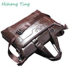 Brand Polo Men's Messenger Bag Causal luxury men handbags Top PU Leather Man Crossbody Bags Polo Briefcase for Men bag 2 colors