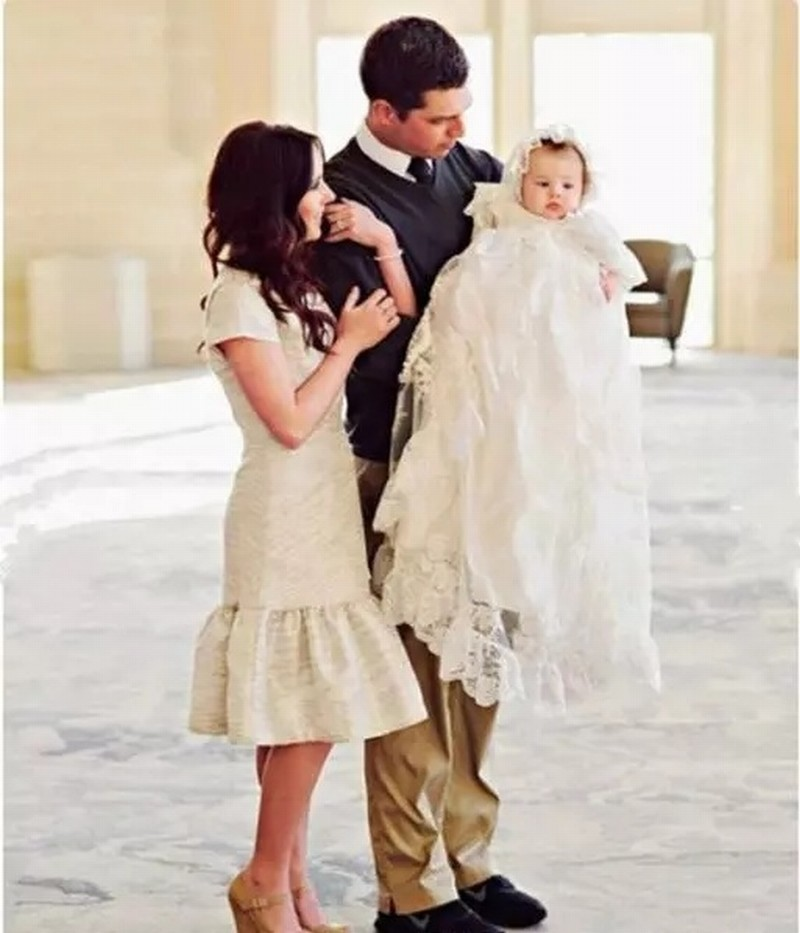 Infant White/Ivory Christening Dress Baby Girls Baptism Gown Flower Lace First Communion Dresses Size 3 6 9 15 18 24 Month +Hat