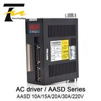 AC Servo Motor Driver AASD 10A 15A 20A 30A Input AC220V 0 3.3A 0 3KW Servo Driver Use for CNC Engraver and Cutting Machine
