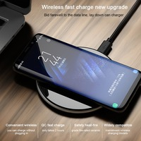 OLLIVAN Qi Fast Charger Wireless Charger For IPhone 8 Plus X Wireless Charging Pad Adapter For
