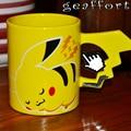 Geaffort Pocket Monster pikachu pokemon ceramic coffee milk tea breakfast cartoon cup with cover cup mug drinkware