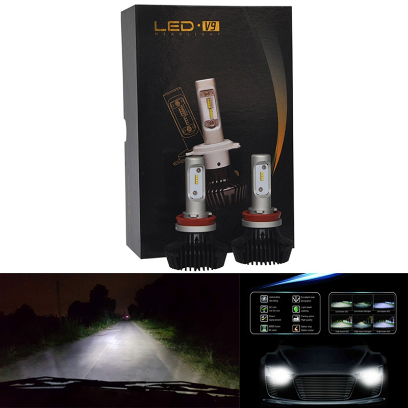 ФОТО 2PC For Philips LED Chips 60W 12000LM 9008/H13 Headlight Kit Beam Bulbs 6500K@31115