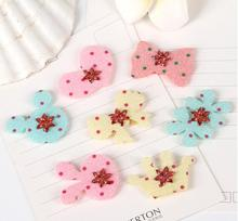 6pcs/set Girls Hair stickers clip velcro bangs tassel Front post  fixed seamless Baby hair patch tiara Women accessories