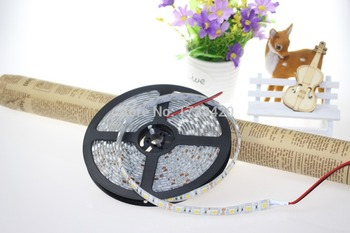 DC12V 60Leds/m 300Leds 5m LED Strip 5050 SMD Waterproof IP65 14.4W/m RGB Red Blue Green Yellow Warm/Cool White LED Strip 25m/Lot