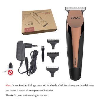 Profesjonalna maszynka do włosów elektryczna maszynka do włosów 0 1mm ścinanie włosów maszyna trymer do brody maszynka do strzyżenia akumulator Haircliper tanie i dobre opinie ZPSTRONG 150mm*40mm ABS+Stainless Steel ZP680