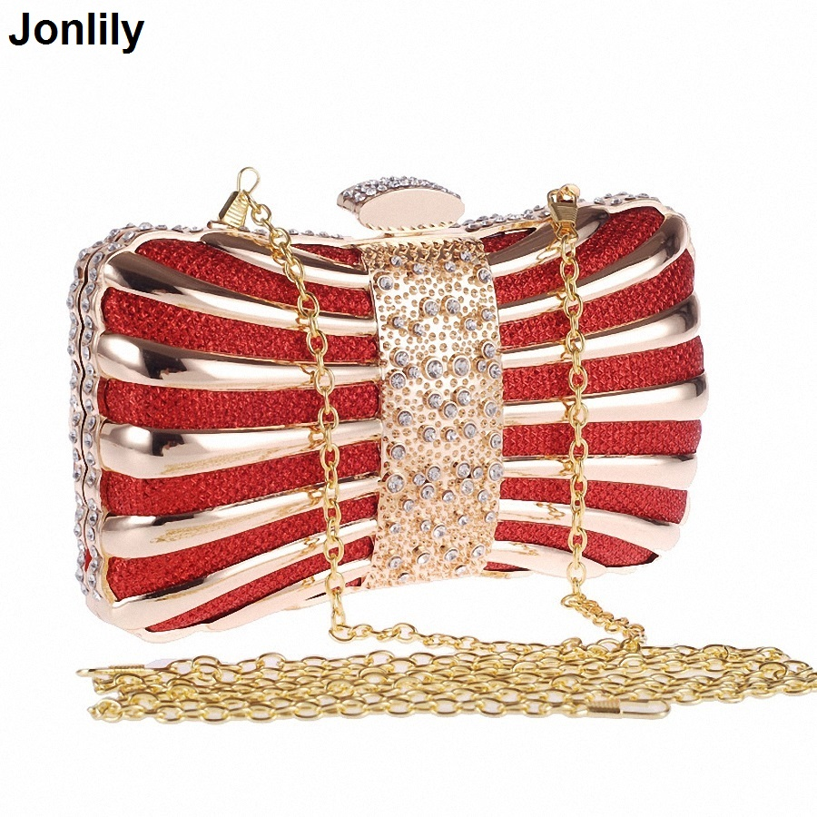 Socialite Metal Hard Case Ladies Clear Crystal Clutch Bags Evening Bags Women Wedding Party Prom Handbag LI-300 redlai colors crystal clear laptop case