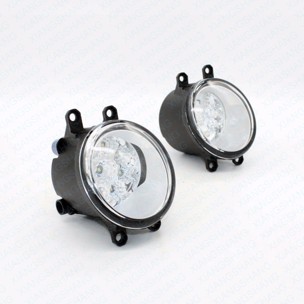 2pcs Car Styling Round Front Bumper LED Fog Lights High Brightness DRL Day Driving Bulb Fog Lamps For Toyota Camry / Camry special car trunk mats for toyota all models corolla camry rav4 auris prius yalis avensis 2014 accessories car styling auto