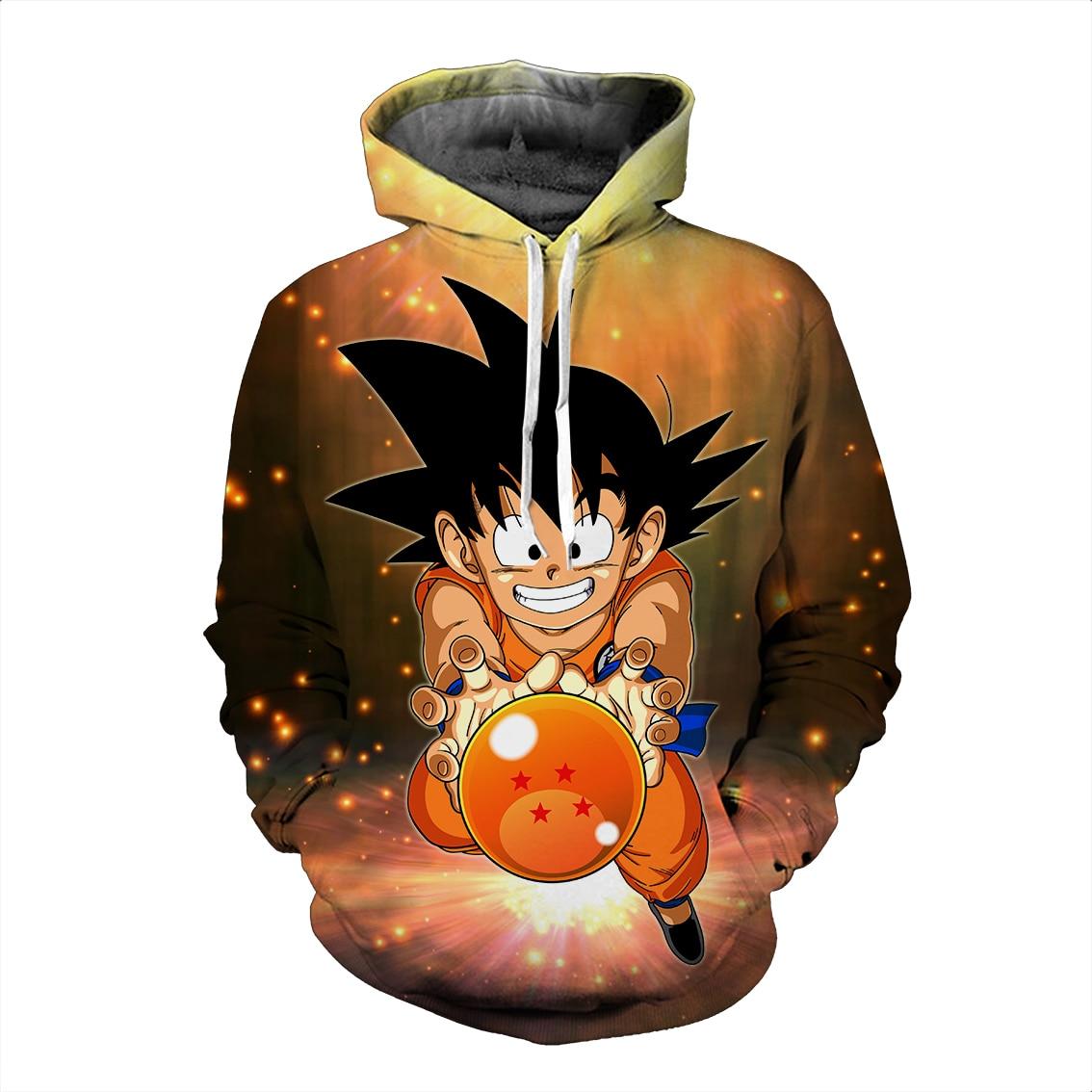 Dragon Ball Z 3d Hoodies Pullover Kaus Anime Lucu Kartun Kaus 2018