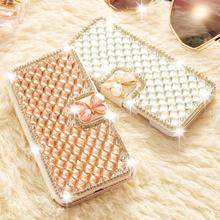 Bling Diamond Rhinestone Case For iPhone X Xr Xs Max Coque Flip Wallet Cover For iPhone 5 5S SE 6 6S 8 7 Plus Leather Phone Case