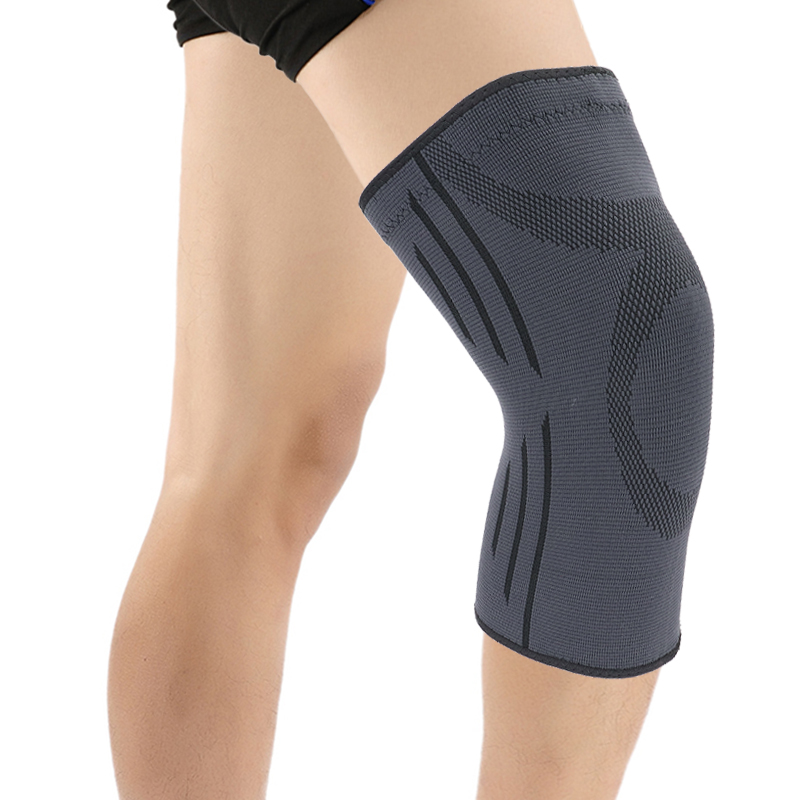 Tom's Hug Sport Knee Support Protector Sleeve Kneepad 1 Pair Fitness Running Cycling Braces High Elastic Gym Knee Pad Warm Black