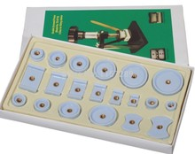 цены 20 pcs Nylon Derlin Dies Set Replace 4 Watch Case Back Crystal Closer Press Repair Tool