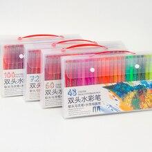 Dual Brush Pen Art Markers- 48-Colors - DUAL TIP Pens Watercolor Markers (Set of 48)